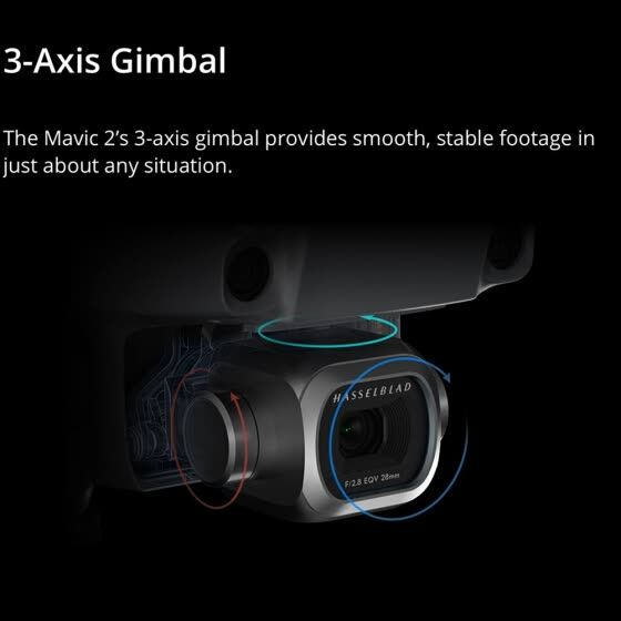 DJI MAVIC 2 ZOOM 3-axis Gimbal 12MP Review